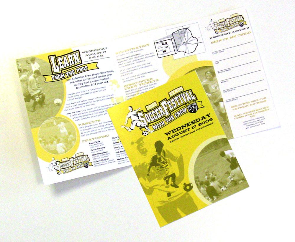 Xenos Soccer Clinic brochure